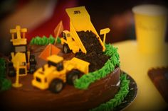 Jaxson's first birthday construction tonka truck cake! Totally a success :)