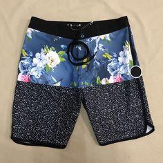 Men Floral Printed Board Surf Shorts
