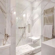 White and gray bathroom - # white - Badgestaltung ideen - Badezimmer Modern Master Bathroom, Grey Bathrooms, Minimalist Bathroom, Small Bathroom, Master Baths, Luxury Bathrooms, Master Bathrooms, Master Master, Beautiful Bathrooms
