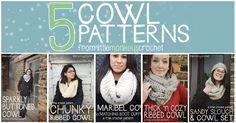 5 Free Cowl #Crochet Patterns  |  Little Monkeys Crochet