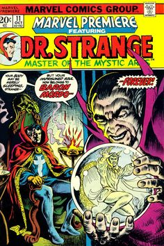 Marvel Premiere Featuring Dr Strange, October cover by Frank Brunner Dr Strange, Strange Marvel, Strange Tales, Marvel Comics Superheroes, Marvel Comic Books, Marvel Characters, Marvel Marvel, Frank Brunner, Comic Book Collection