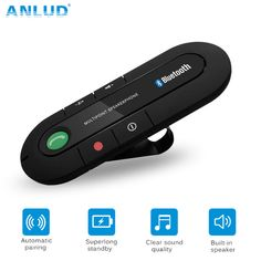 Better Price $8.99, Buy ANLUD Bluetooth Handsfree Car Kit Wireless Bluetooth Speaker Phone MP3 Music Player Sun Visor Clip Speakerphone with Car Charger