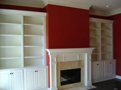 Fireplace With Built In Bookshelves | Fireplace & built in bookcases | house