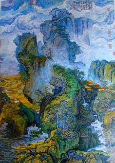 View Guo Xi's scroll of Early Spring - van Gogh By Zhang Hongtu; x 68 in. Access more artwork lots and estimated & realized auction prices on MutualArt. Art Van, Van Gogh Art, Vincent Van Gogh, Van Gogh Paintings, Famous Art Paintings, Art Asiatique, Wow Art, Pretty Art, Art Plastique