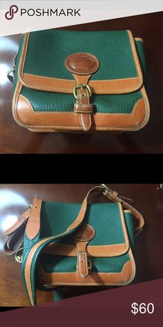 8bd6feff1ad2d Shop Women s Dooney   Bourke Green size OS Shoulder Bags at a discounted  price at Poshmark. Description  Classic Dooney   Burke All Weather Leather  Purse.