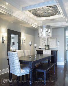 Dining Room Dark Hardwood Floor Design, Pictures, Remodel, Decor and Ideas