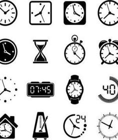 Time Clock Icon Set royalty-free time clock icon set stock vector art & more images of alarm clock Always On Time, Have Time, Clock Icon, Time Clock, Read Later, Time Management Tips, Real Simple, Career Advice, Good Advice