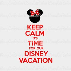 Keep Calm Minnie Disney Vacation SVG, DXF, EPS, PNG Digital File – Wickedly Cute Designs