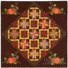 """Jo's Pumpkin Patch quilt, 40 x 40"""", by Jo Moury. Appears in Quiltmaker Sept/Oct '13."""