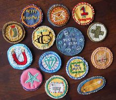 DIY merit badges - what a cute idea to add on for kid activities in the summer or over school breaks...