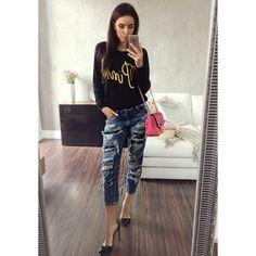 Trendy černý dámský pletený svetřík - manozo.cz Trendy, Pants, Fashion, Trouser Pants, Moda, Fashion Styles, Women's Pants, Women Pants, Fashion Illustrations
