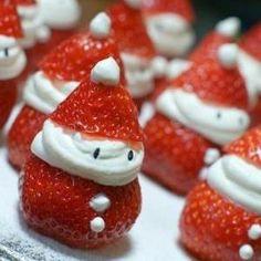 Healthy Christmas Food Strawberry Father Christmas