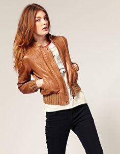 ASOS Leather Bomber Jacket