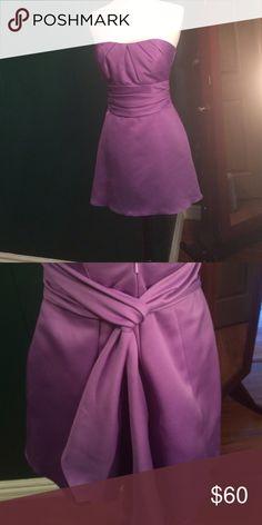 Purple Dress - model pic Old braids maids dress Dresses Strapless