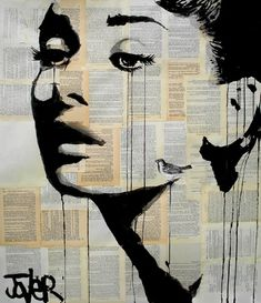 "Saatchi Online Artist Loui Jover; Drawing, ""and her bird can sing"" #art"