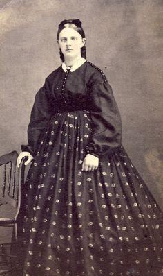 shirt and skirt but they MATCH ..Garibaldi blouse, hair net