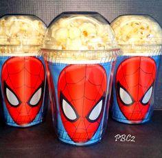 Palomitas de maíz Spider-man cumpleaños fiesta por JaymesPartyBox