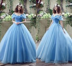 In Stock ! Princess Colored Wedding Dresses With Butterfly Crystal Spring Ball Gown Off Shoulder Light Sky Blue Cinderella Bridal Gowns Traditional Ball Gown Wedding Dresses 2015 Ball Gown Wedding Dresses From Alinabridal, $69.28| Dhgate.Com