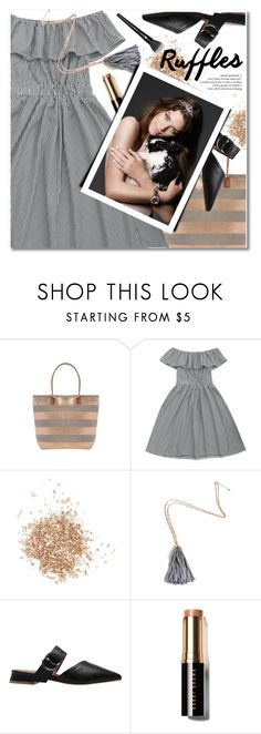"""Ruffles"" by svijetlana ❤ liked on Polyvore featuring Topshop, Bobbi Brown Cosmetics, Lancôme, ruffles and zaful"