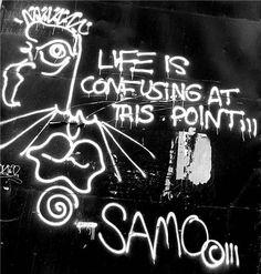 Jean-Michel Basquiat grafitti, NYC 1979. Este é mais um exemplo da marca que o artista e o seu amigo deixaram nas paredes de Nova Iorque.