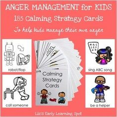 Calming strategies for kids to try in managing their emotions!