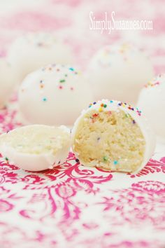 Simply Suzanne's AT HOME: cake batter truffles
