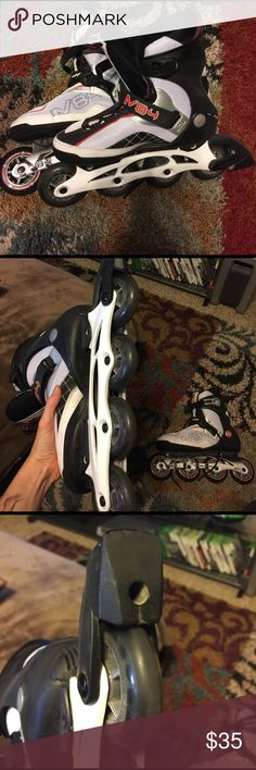 Almost new roller blades. Only used once or twice, N84 Moto roller blades. We moved, and there is no where I would want to use them here. moto 84 M  Shoes Athletic Shoes