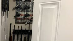 Have an old closet you're looking to turn into a customized gun room? These American Made, gun storage solutions provide a fully modular system to ensure your firearm collection can continue to grow. Find the perfect gun wall bundle or customize your setup. Free shipping on orders $20+ Gun Rooms, Gun Storage, Slat Wall, Storage Solutions, Guns, Display, Free Shipping, American, Closet
