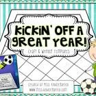 Have your students kick off a great new year with this fun soccer themed craft. Students will also write their goals for the new year {can be used ...