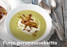 Purjo-perunasosekeitto, resepti: Valio #kauppahalli24 #ruokaa #resepti #sosekeitto #purjo #peruna #kasvisruoka