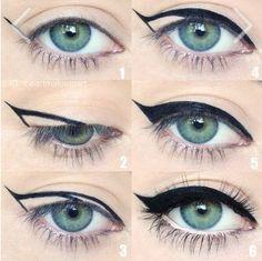 Paso a paso para lograr un eye cat perfecto.