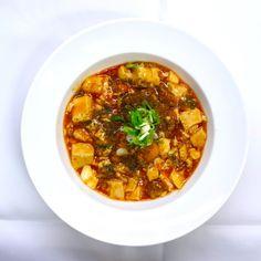 香     辣     魚     柳 Braised tofu fish with spicy sauce 魚入り麻婆豆腐