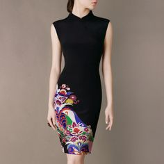 Silk Cheongsam Dress 2014 New Spring Outfit Mandarin by Chieflady, $158.00