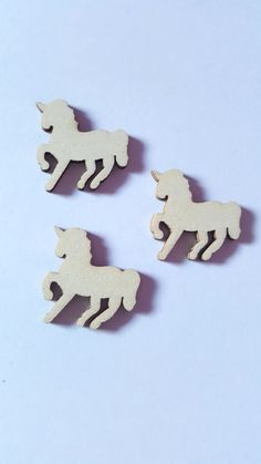 10 x Mini Blank Wooden Craft Shapes - 30mm - Unicorn  £1.50