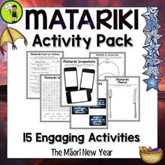 Matariki Print and Go Activity Pack - 15 Engaging ELA Resources Creative Thinking, Teaching Resources, Save Yourself, Special Events, Literacy, Packing, Classroom, Activities, Writing