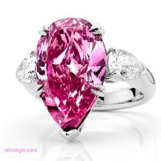 Pink Wedding Rings  http://www.ntvstyle.com/pink-wedding-rings/ NTV Style