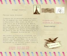 Invitatie nunta Tema Paris - Wedding invitation Theme Paris (The Letter to our dear ones) - Details