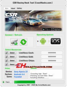 CSR Racing Exact Hacks Tool 2017 No Survey (Android/iOS) Free Download http://www.exacthacks.com/csr-racing-exact-hacks-tool/