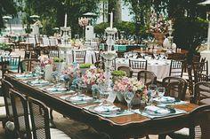 Mesas comunitárias no casamento - http://casandoembh.com.br/mesas-comunitarias-no-casamento/