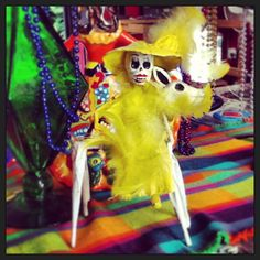 Carnaval Catrina on a donkey!