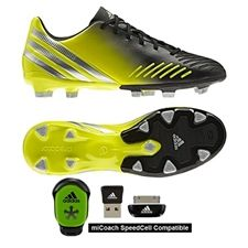 There are three types of soccer shoes, indoor, outdoor and turf.  Soccercorner.com