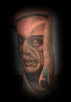Nosferatu Tattoo by Craig Harris, Frostbite Tattoo, NZ