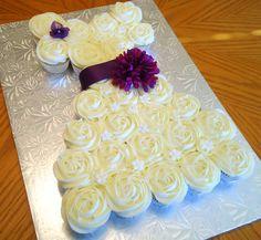 Bridal Shower Dress Cupcake Cake