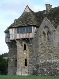 Stokesay Castle - Stokesay Castle is a fortified manor house in Stokesay, a mile south of the town of Craven Arms, in southern Shropshire. It was built in the late 13th century.