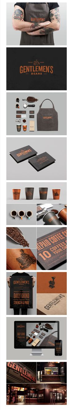 Gentlemens Beans by Inject Design #identity #packaging #branding do we need some women's beans too? PD