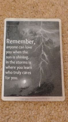 Laminated Wallet Size Inspirational Quote/Message Keepsake Cards -  Remember on Etsy, £2.50