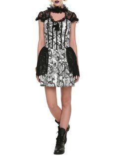 Black & White Skull Lace Dress | Hot Topic