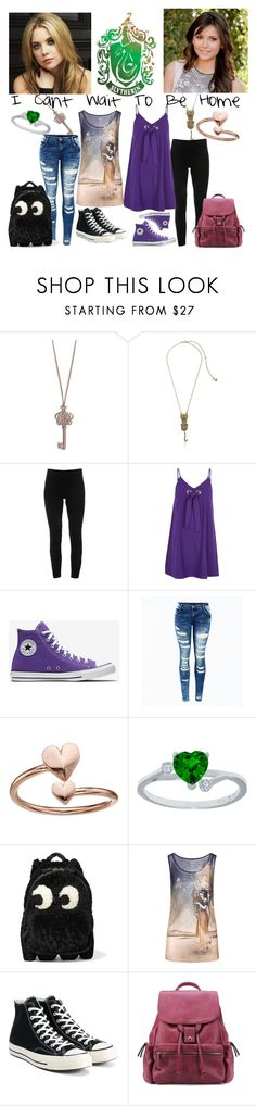 """""""I Cant Wait To Be Home"""" by mrsnotsoperfect ❤ liked on Polyvore featuring Vera Bradley, Betsey Johnson, Elie Tahari, TOUS, River Island, Alex and Ani, Anya Hindmarch, Disney and Converse"""