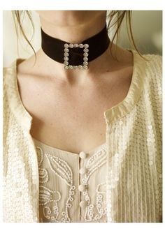 Diamante Buckle Choker
