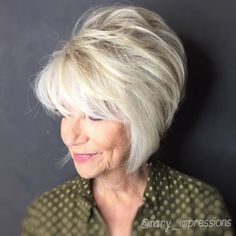 Blonde Feathered Bob with Height on the Crown